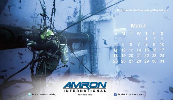 Amron Diving Calendar March