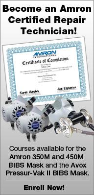 Repair Technician Courses for the Amron 350M and 450M BIBS Mask and Avox Pressu-Vak II BIBS Mask