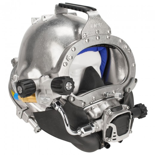 KM 97 Commercial Diving Helmet with Male Waterproof Connectors