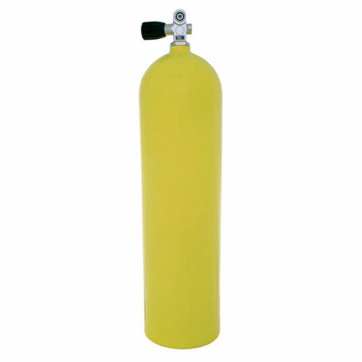 Aluminum Dive Tank - Yellow with Pro-Valve - 80 cu ft.