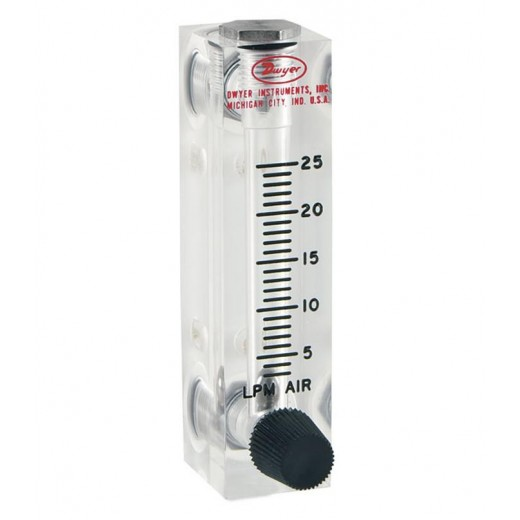 VFA-27-SSV - Visi-Float Flowmeter - 2 in. Scale - LPM Air - 10-100 Range - Stainless Steel Metering and Valve Connection