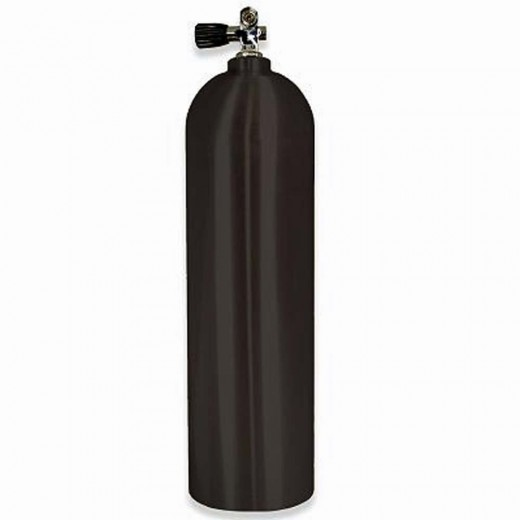 100 Cubic Foot Aluminum Scuba Tank with Pro-Valve - Black