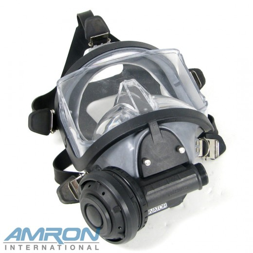 Divator MK II Full Face Mask with Positive Pressure Regulator - Natural Rubber - Grey