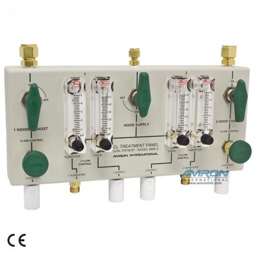8890-2 Oxygen Treatment Panel for Two Patients