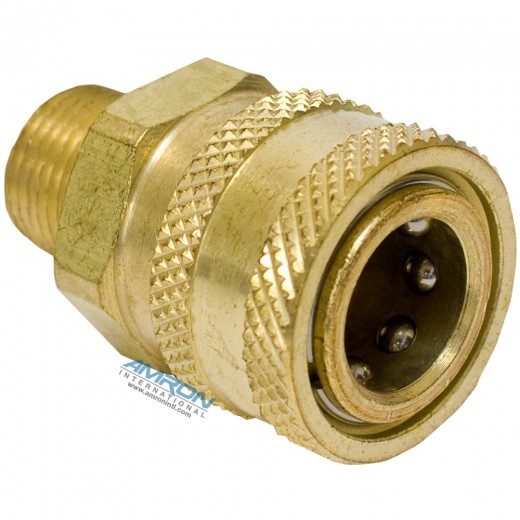 59853-00 Oxygen Cleaned Quick Disconnect Socket - Brass