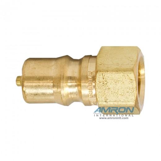 B2-K16 - Two Way Plug - 1/4 in. FNPT Plug in Brass