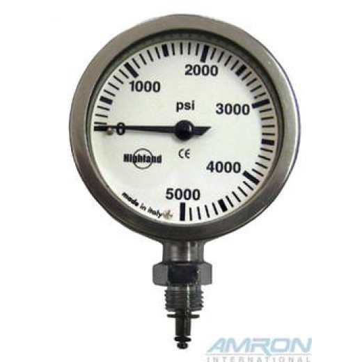2 in. Brass and Glass Pressure Gauge