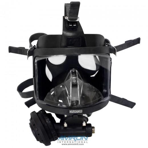 Divator MK II Full Face Mask with Demand Regulator - Silicone - Black