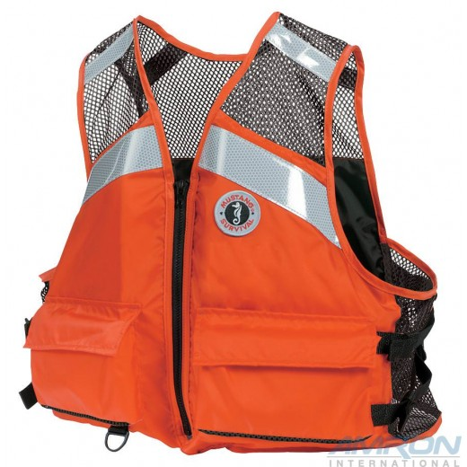 MV1254-T1 Industrial Mesh Vest with SOLAS Reflective Tape