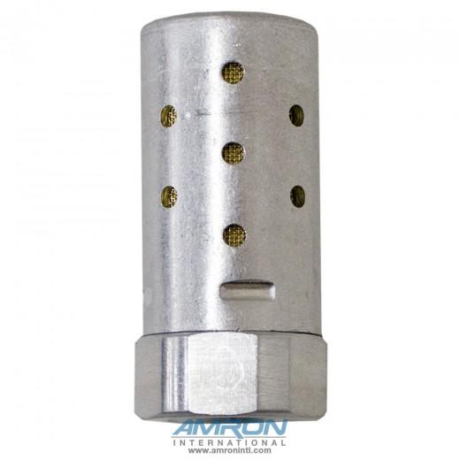 Heavy Duty Silencer - NPT Port 1/4 Flow 2.4 Hex 13/16 Len 1.78 MA002A