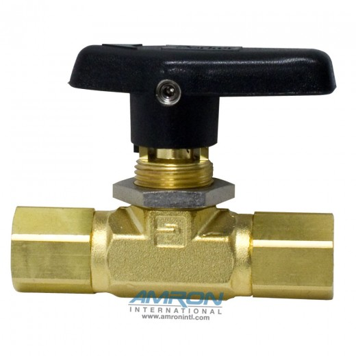 4F-B6LJ-BP B-Series Ball Valve - 1/4 inch Female NPT PTFE Seat - Brass