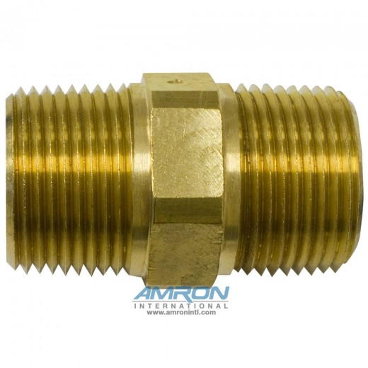 FF-B-1 FF Pipe Nipple Hex 1 inch NPT - Brass