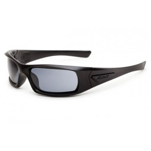 5B Ballistic Sunglasses - Black Frame with Smoke Gray Lenses