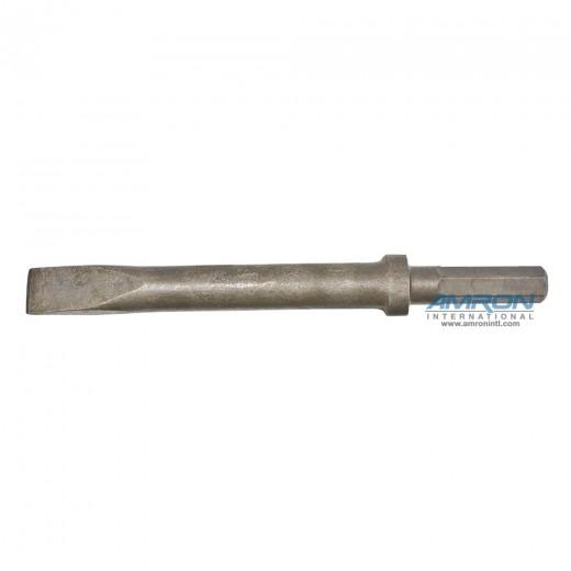 66257 CH15 Hydraulic Chipping Hammer Bit - 0.580 Hex Shank Steel Narrow Chisel