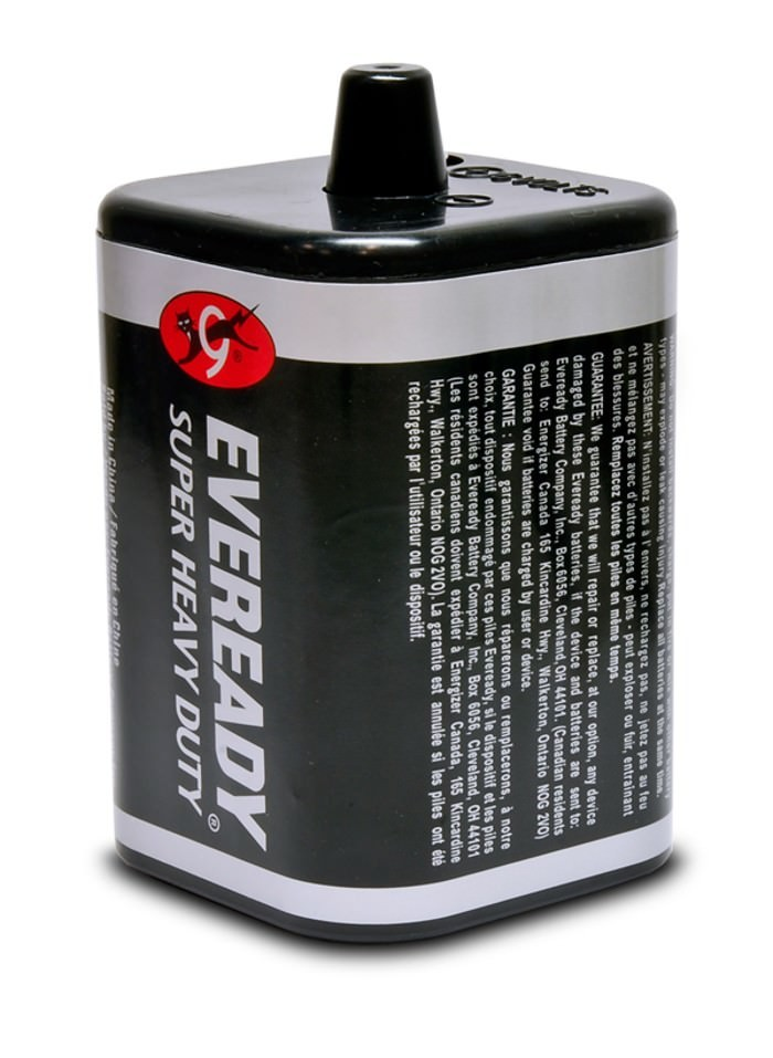 Amron International 2890-03 6VDC Non-Rechargeable Spring Top Dry Cell Battery