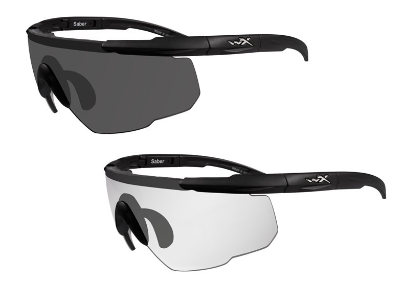 Wiley X Saber Advanced 2 Lens System Ballistic Sunglasses - Smoke Gray &amp; Clear