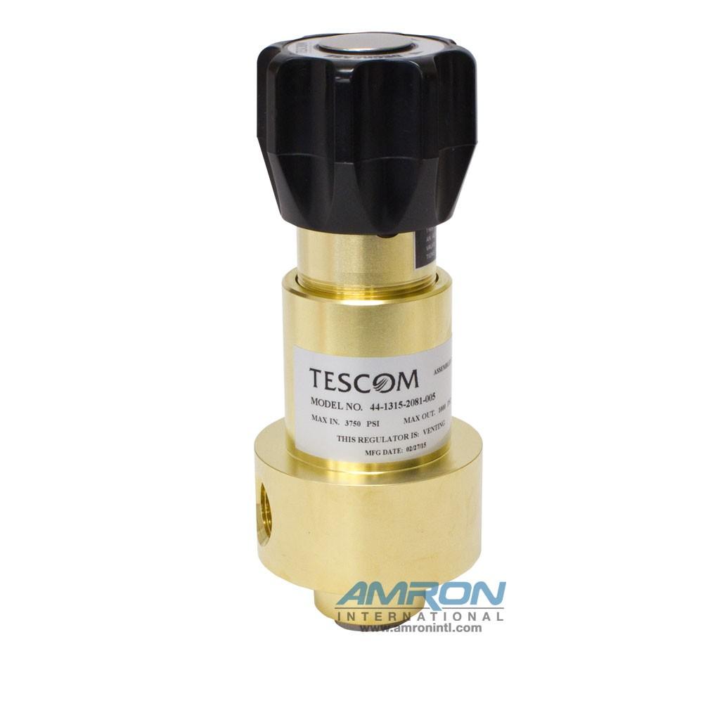 Tescom Pressure Reducing Regulator 0-1000 PSIG - Brass 44-1315-2081-005