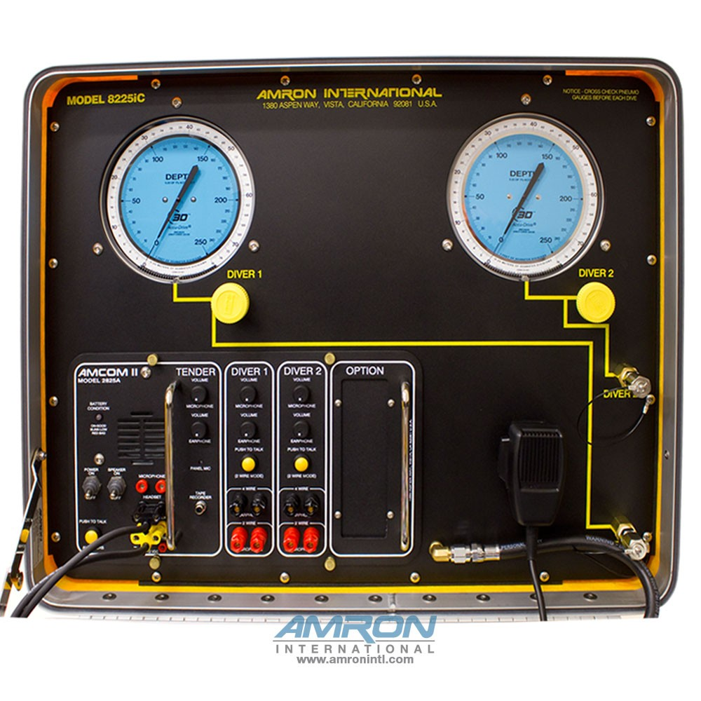 Amron International Model 8225iC Air Control and Depth Monitoring System for 2 Divers with Communications