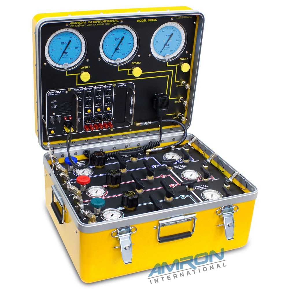 Amron International Model 8330iC Air Control and Depth Monitoring System with Communicator for 3 Divers 8330iC