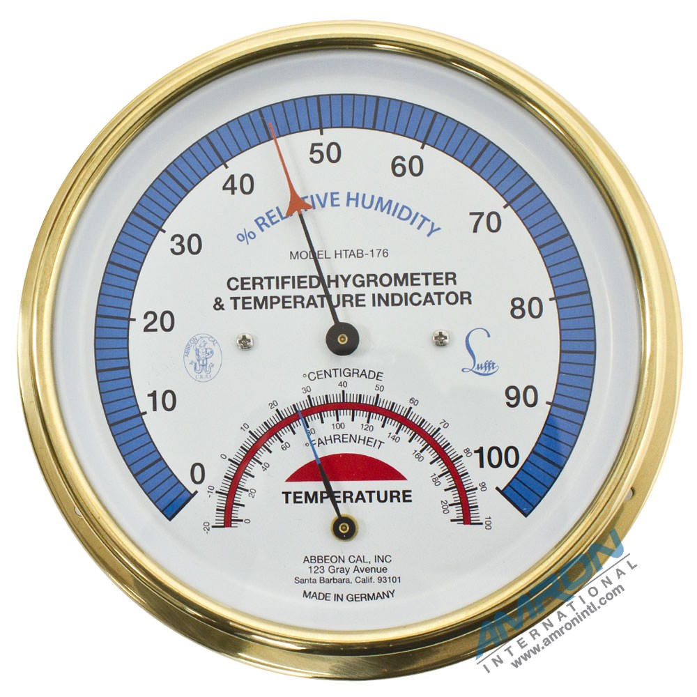 Certified Hygrometer & Temperature Indicator 9-HTAB-176