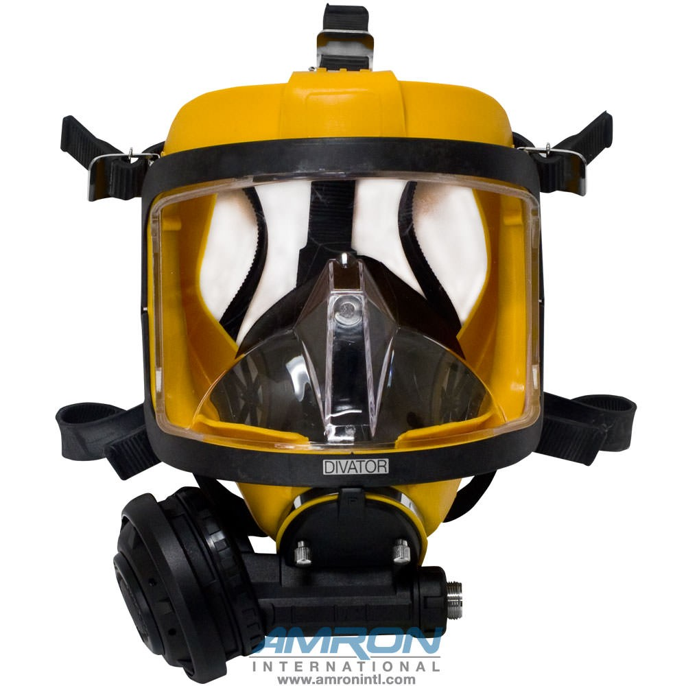 Interspiro AGA Divator MK II Full Face Mask with Positive Pressure Regulator - Silicone - Yellow - 96319-02