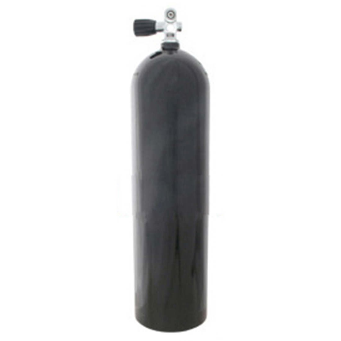 AL80 Aluminum SCUBA Cylinder with Pro Valve - Black