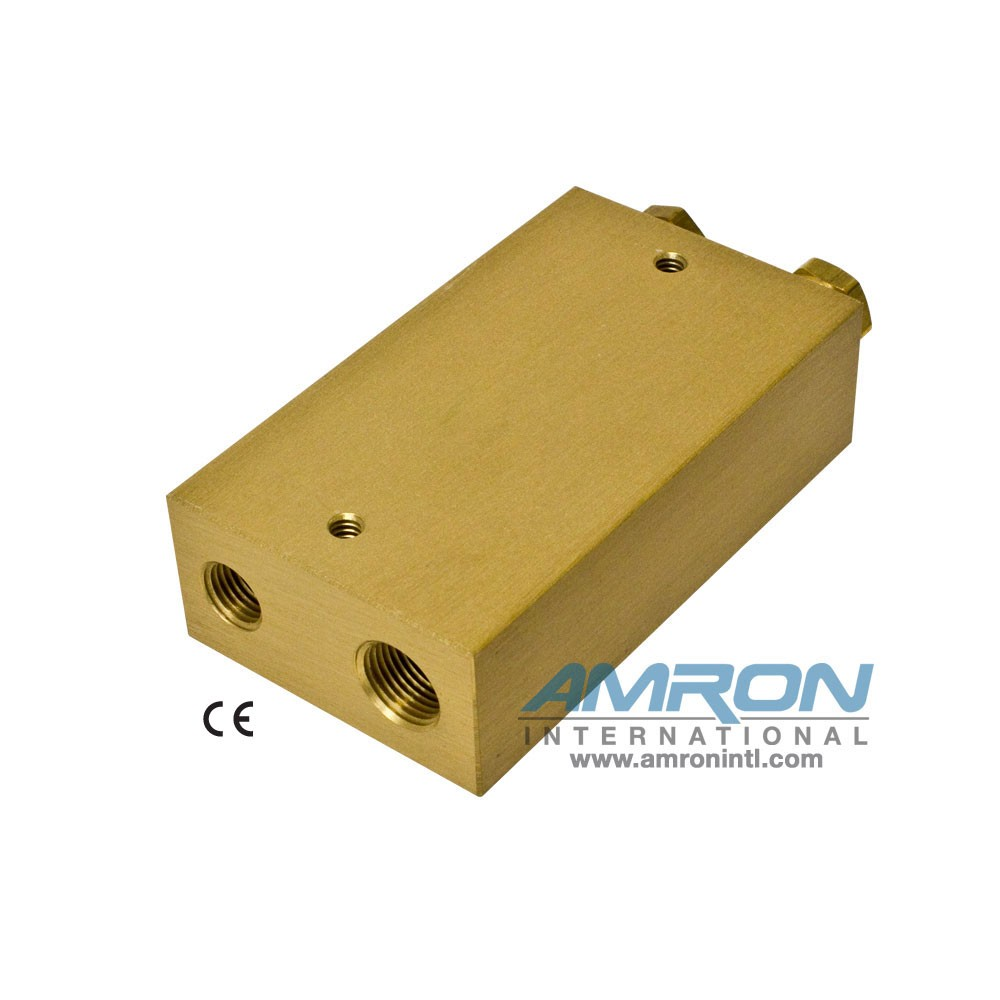 Amron International 8000-002 Chamber BIBS Manifold Block with 2 Ports-Back