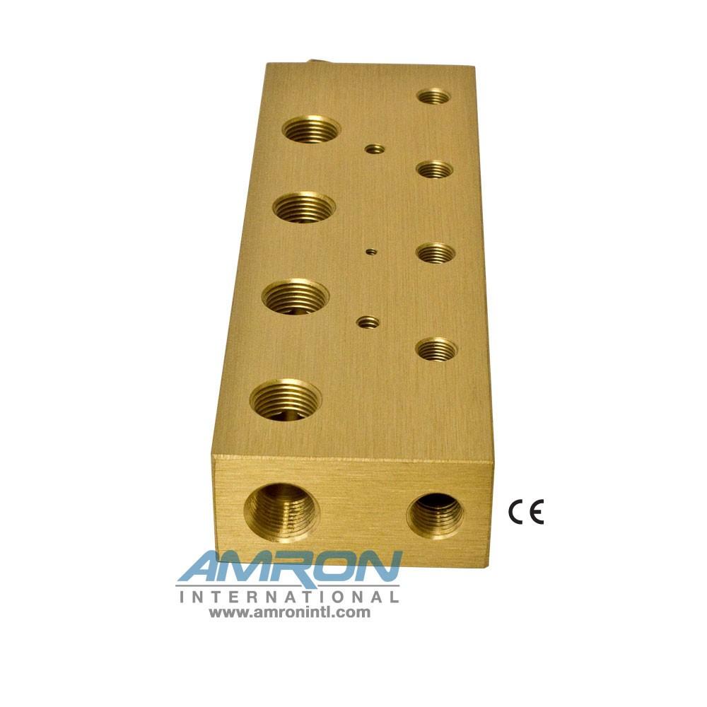 Amron International 8000-004 Chamber BIBS Manifold Block with 4 Ports