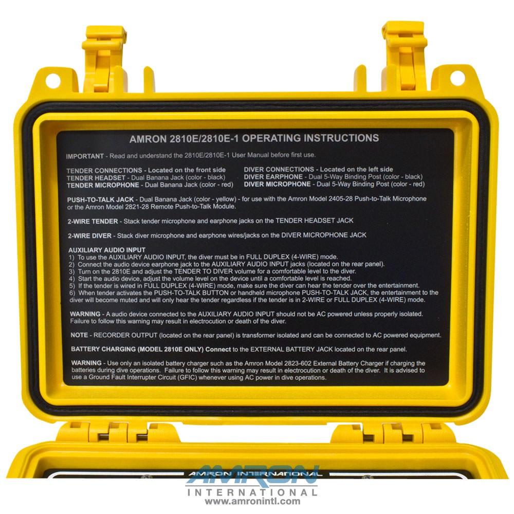 Amron Amcom ™ I Communicator with Rechargeable Battery 2810E