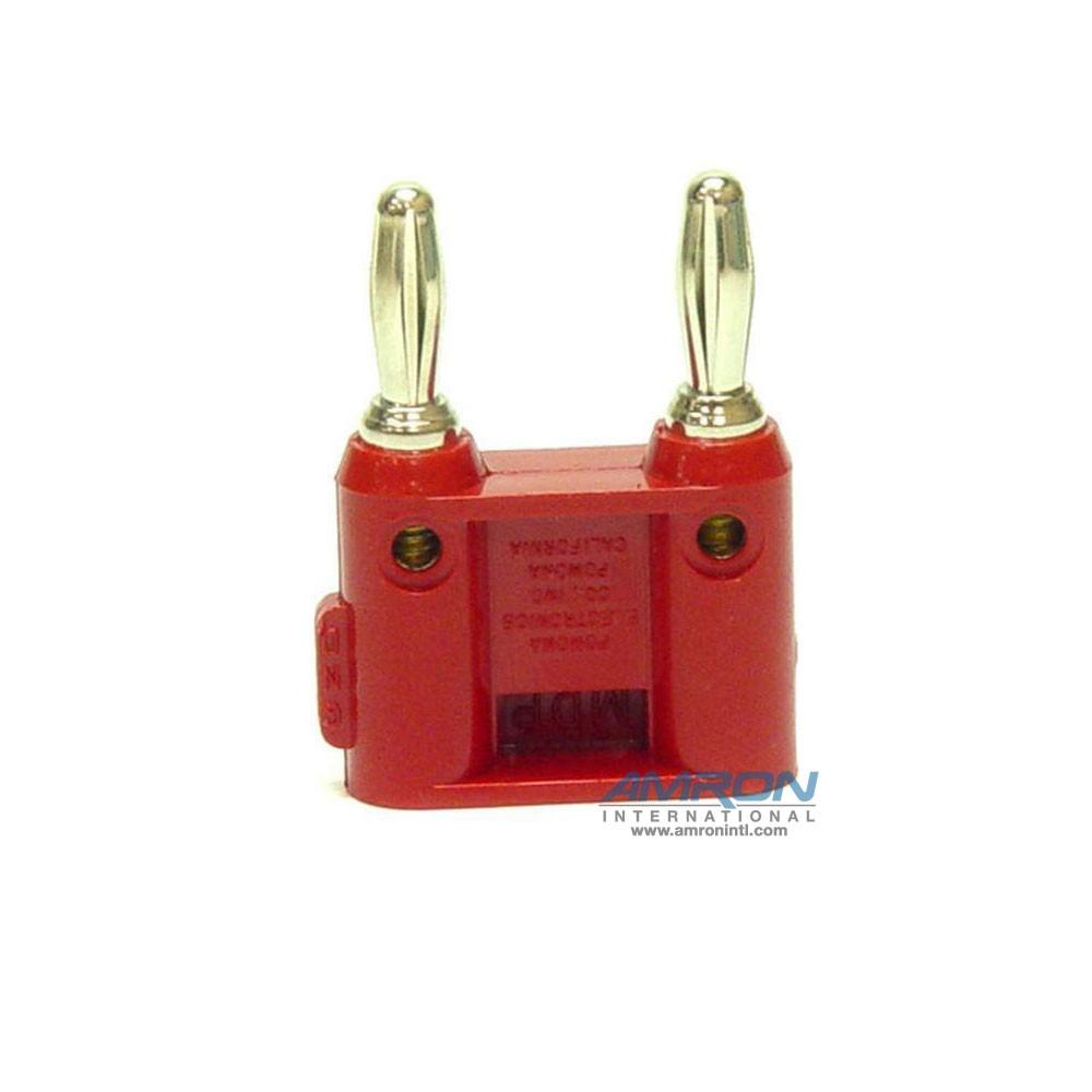 Amron International 14001R Dual-Pin Banana Plug - Red