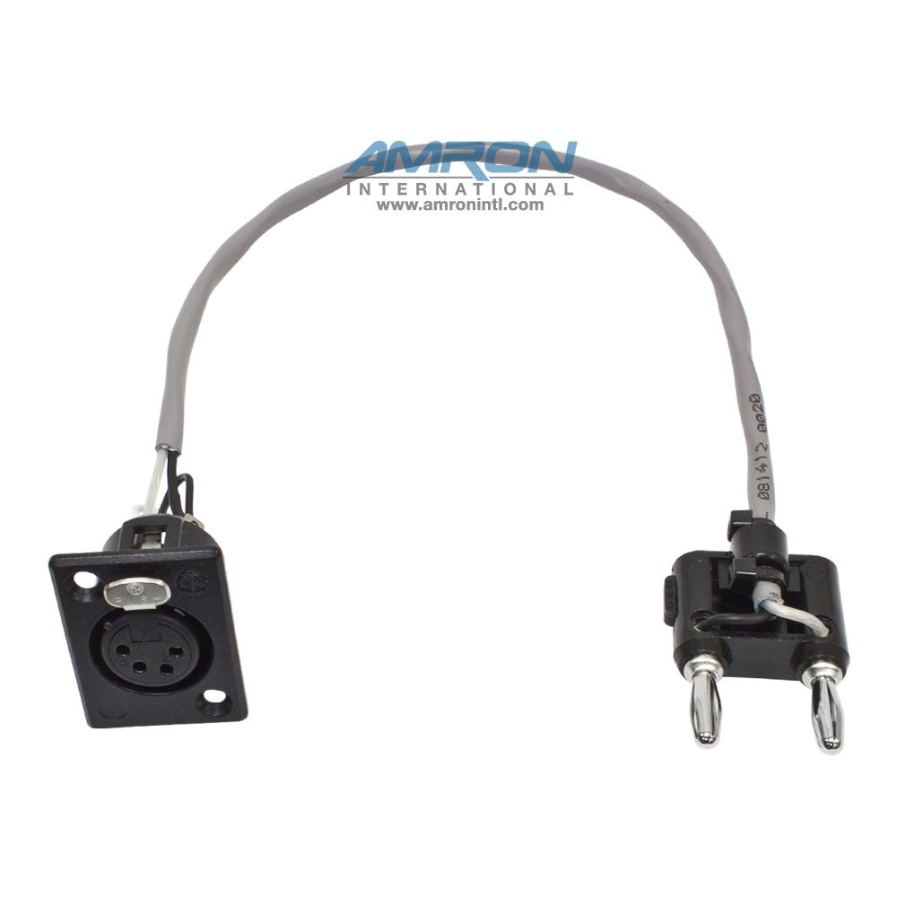 Amron International Headset 4-Pin Neutrik X Black Banana Plug 2400-08