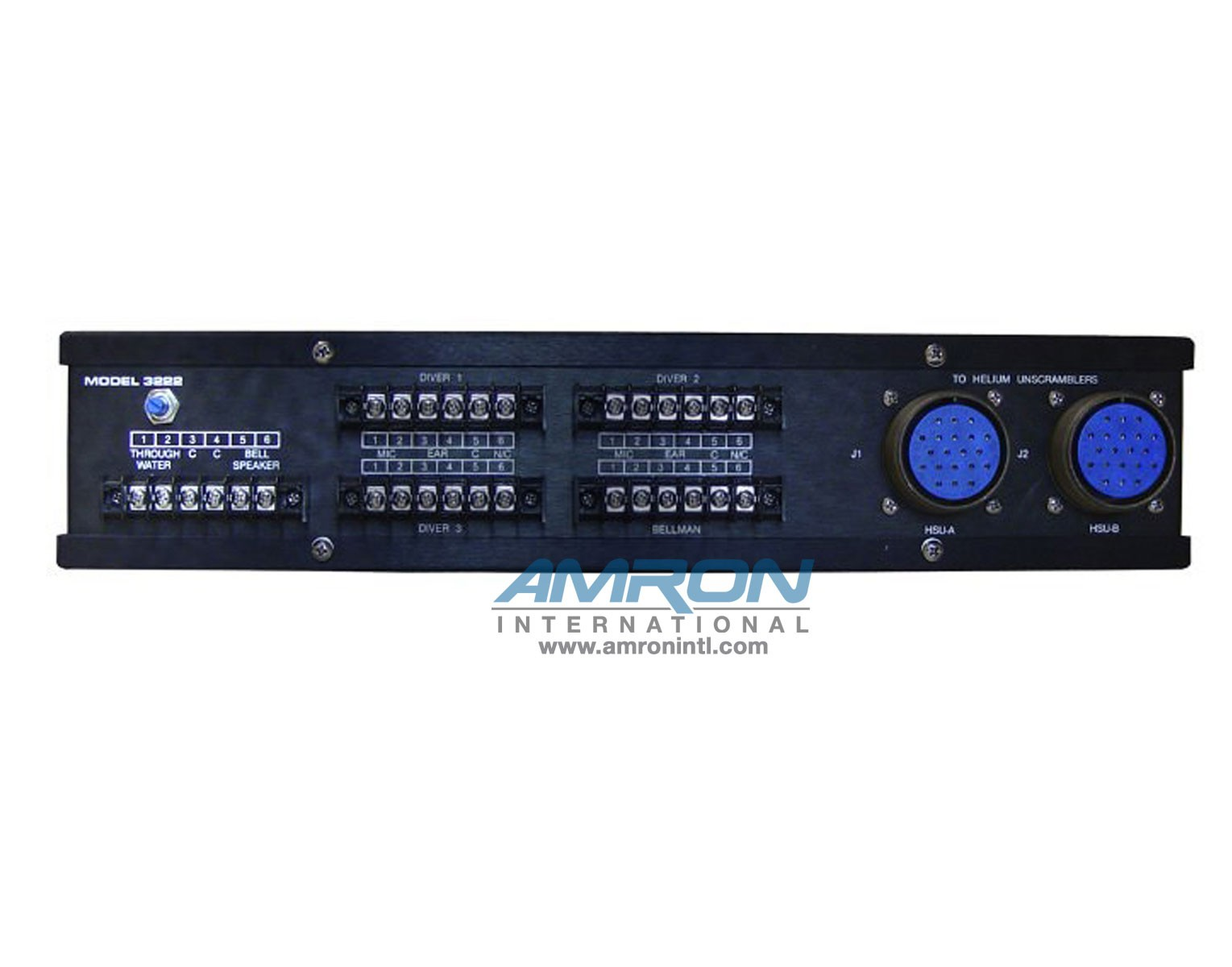 Amron International Model 3222 Bell Communication Routing Panel-Back