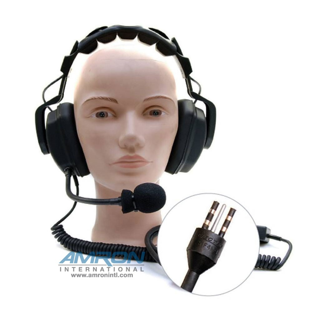 Amron International Model 2460-20 Standard Headset with EO Connector and Spiral Cord