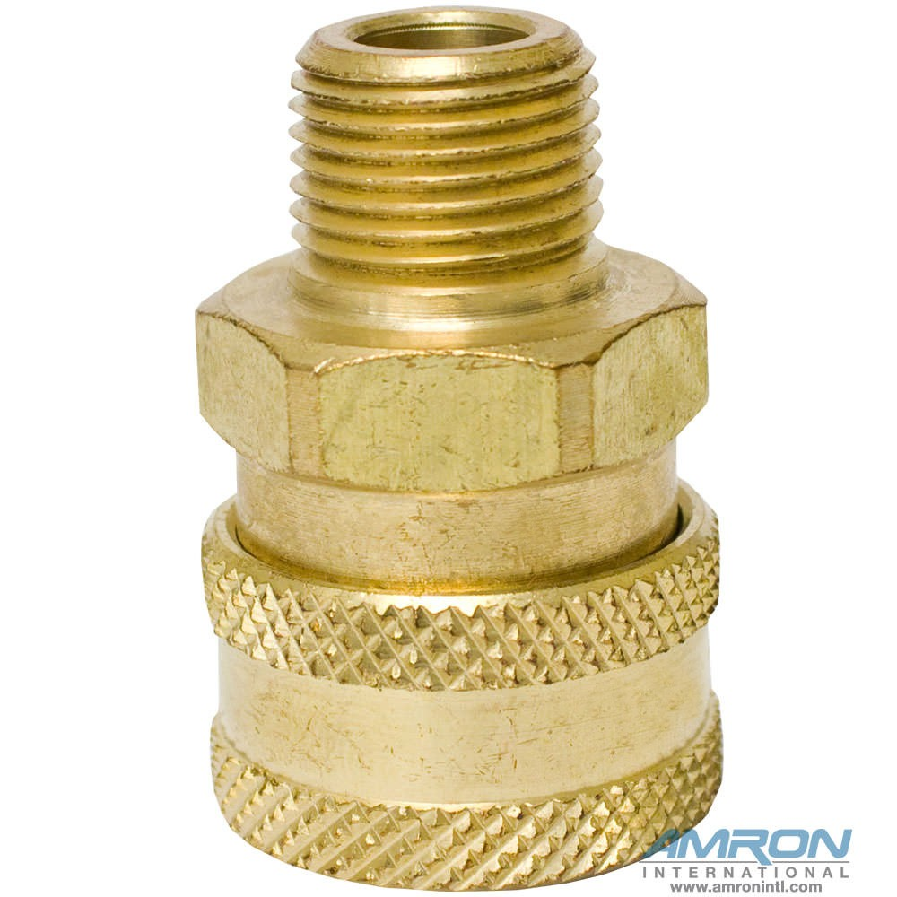 Avox 59853-00 Oxygen Cleaned Quick Disconnect Socket Brass
