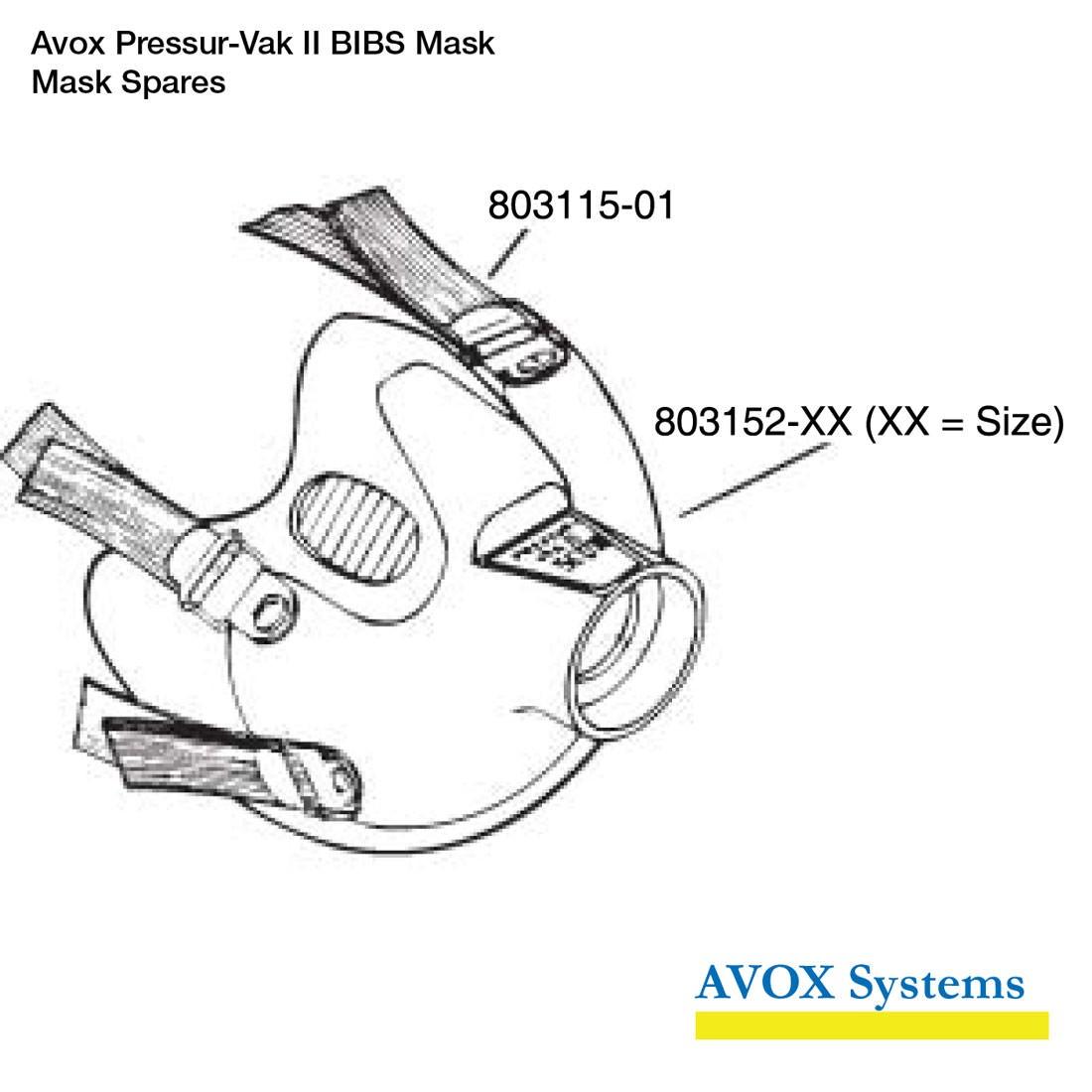 Avox Pressur-Vak II BIBS Mask - Mask Spares