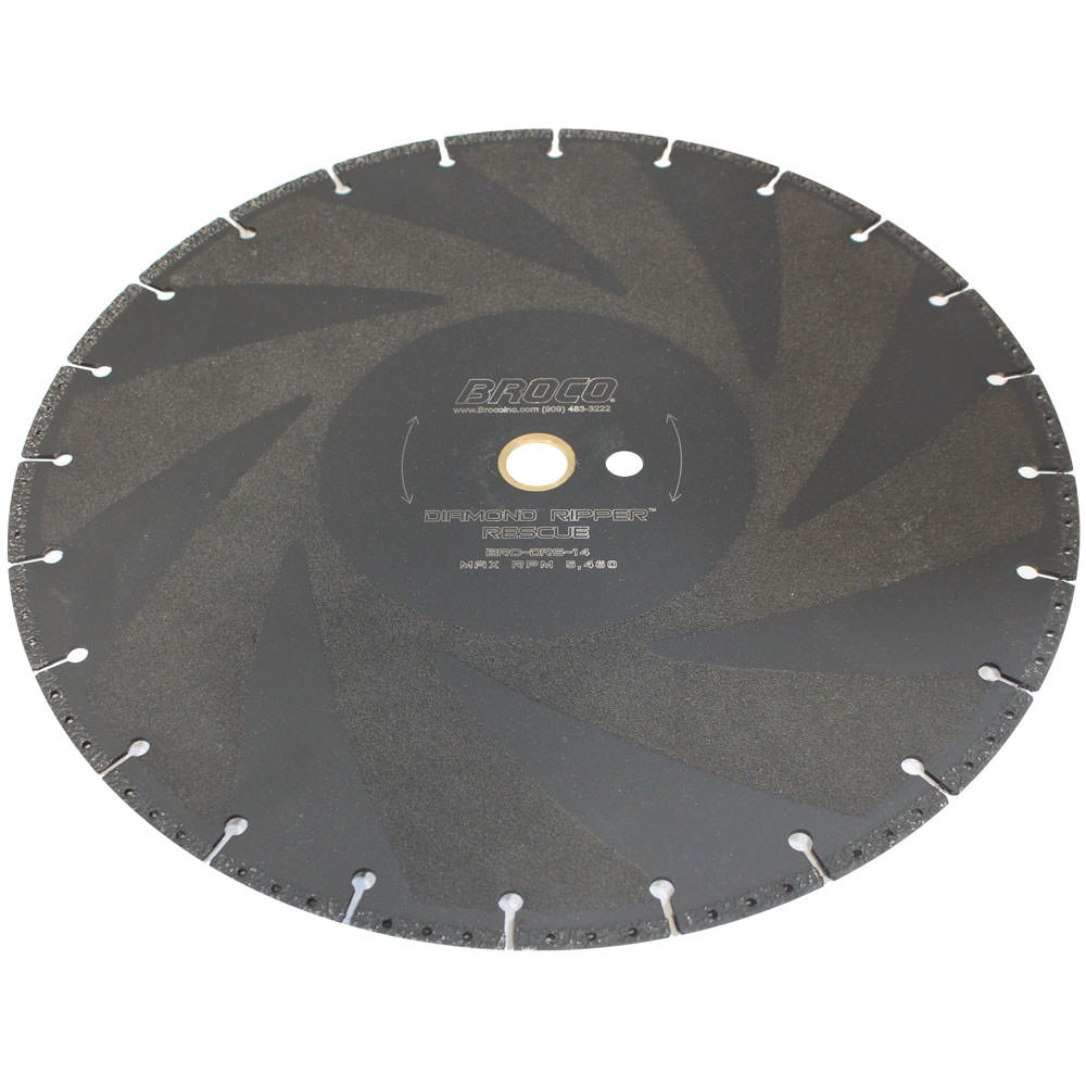Broco DRS-12 Diamond Ripper Quickie 12 Inch Rescue Saw Blade BRO-DRS-12 (Photo displays the 14 Inch Blade)
