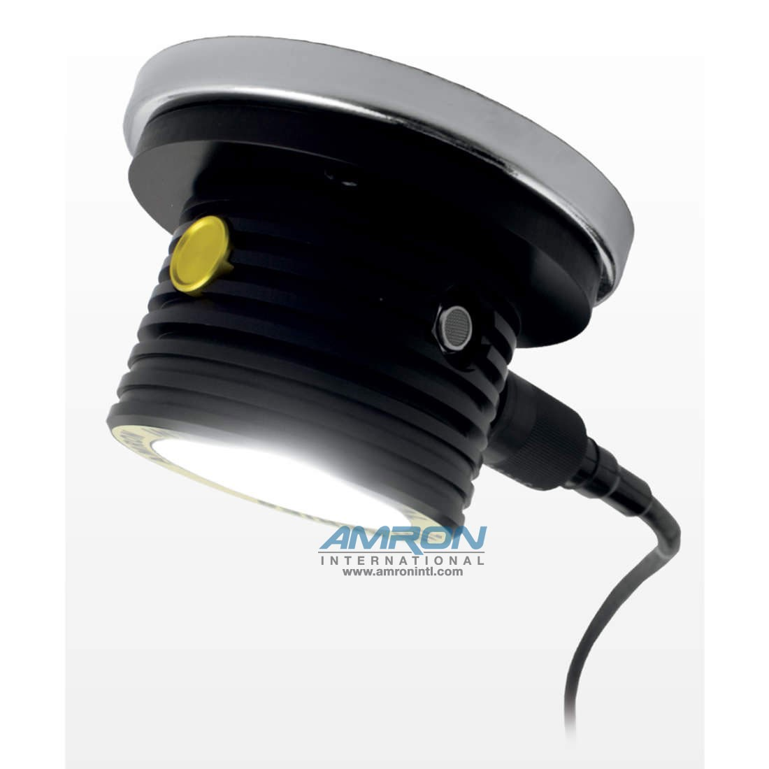 Amron International 7100 Series Chamber Light (Shown with Optional Magnetic Base) Provides 6 Levels of Light