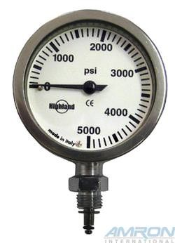 XS Scuba 2 in. Brass and Glass Pressure Gauge