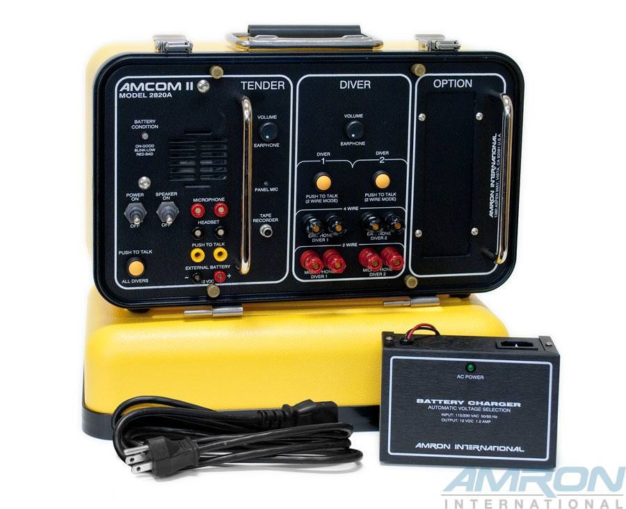Amron International Amcom 2-Diver Standard Rechargeable Portable Communicator - External Charger 
