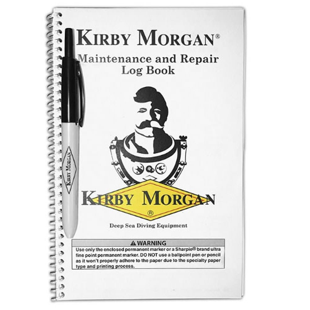 Kirby Morgan Logbook with Pen (P/N: 125-001)