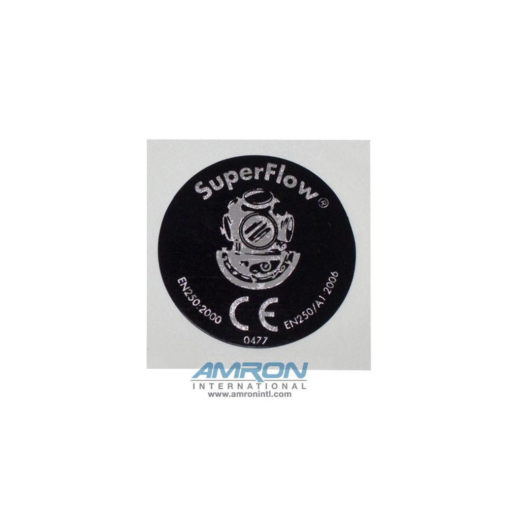 Kirby Morgan 545-018 SuperFlow 350 Regulator Cover Assembly Sticker