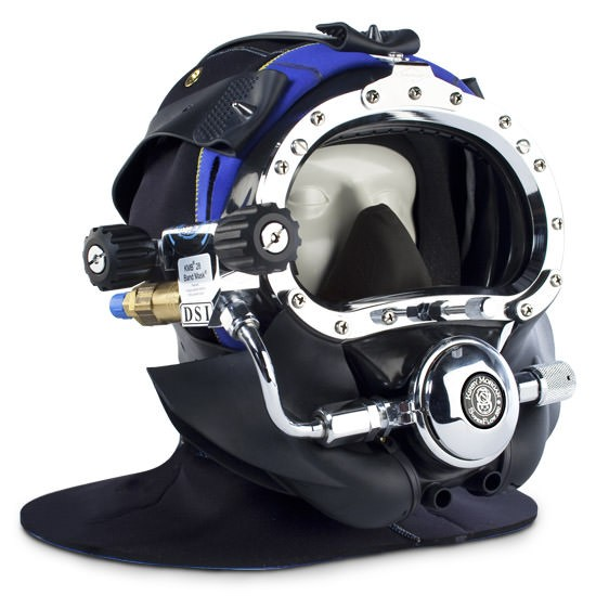 Kirby Morgan BandMask 28 with Male Waterproof Connector