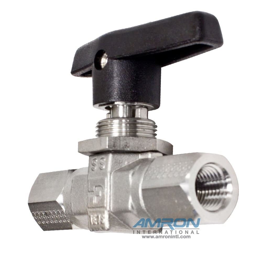 Parker B-Series Ball Valve 1/4 in NPT Female Stainless Steel 4F-B6LJ-SSP