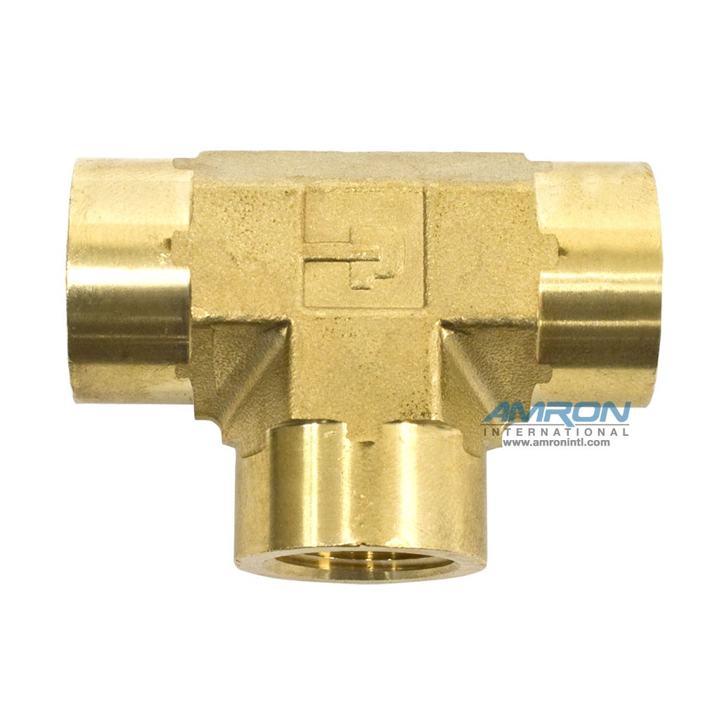 Parker MMO Female Tee Brass - 3/4 inch NPT - MMO-B-3/4