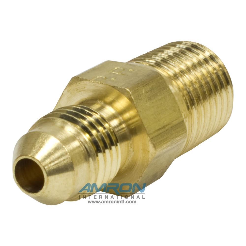 Parker Triple-Lok® FTX Male Connector 1/4 in JIC 1/4-18 in NPT Brass FTX-B-4-4