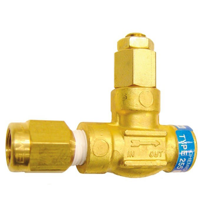 Chemiquip Model PLV-255B-4 Pressure Limiting Valve - Brass - 1/4 in. NPT - 150-500 psi