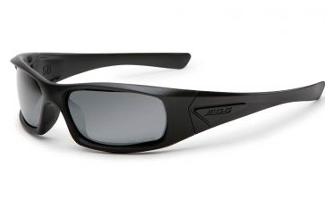 ESS 5B Black with Polarized Mirrored Gray Lenses