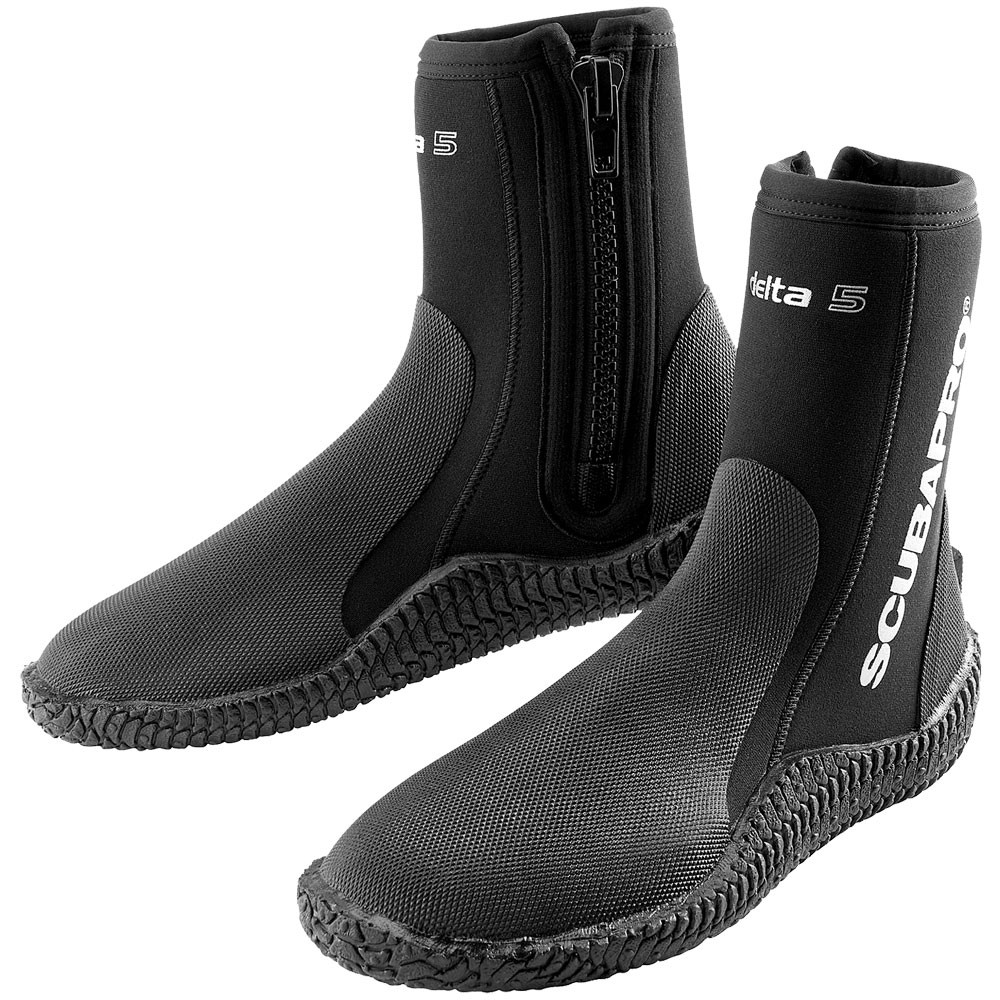 SCUBAPRO Delta Diving Boots 5MM Black - Large Size 10 57.136.600