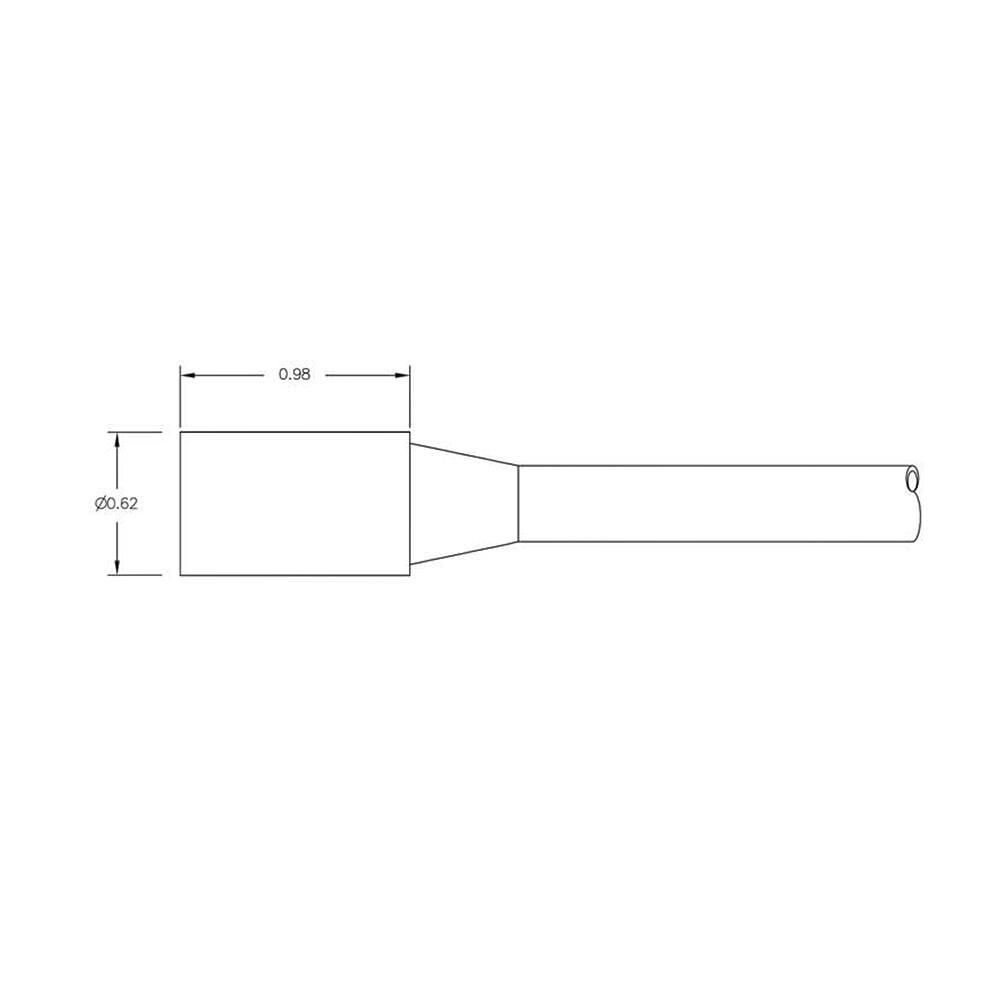 SEA CON Micro Wet-Con In-Line Connector - 2 Socket Female MCIL2F Dimension Details