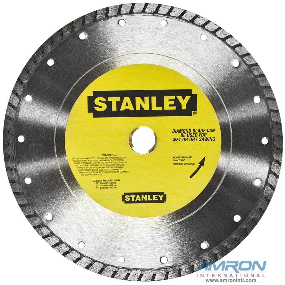 Stanley 03694 10-Inch Diameter Diamond Wheel for Masonry 1-Inch Arbor